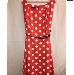 Orange Polka Dot Dress Size 22W